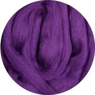 Fine Merino Wool Roving -- Purple