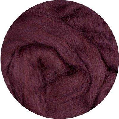 Fine Merino Wool Roving -- Wine