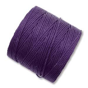 S-LON Superlon Bead Cord -- Purple