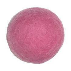 35mm Felt Bead -- 17. Dark Pink