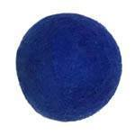 25mm Felt Bead -- 10. Blue