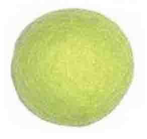 25-30mm Felt Bead -- 1. Chartreuse