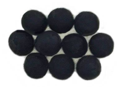 15mm Felt Bead -- Black
