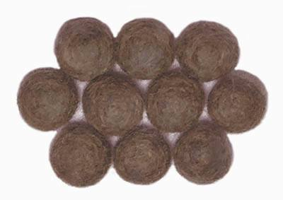 15mm Felt Bead --  Brown