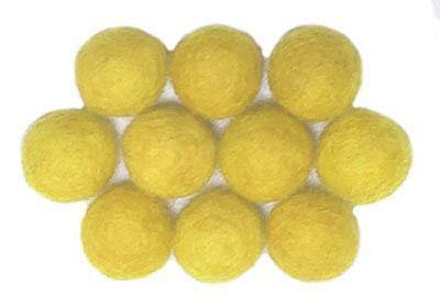 15mm Felt Bead -- Yellow