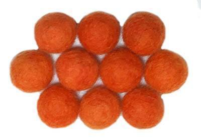15mm Felt Bead -- Orange