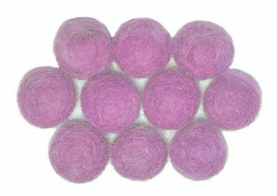 15mm Felt Bead  -- Orchid