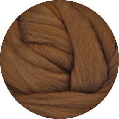 Fine Merino Wool Roving -- Oak