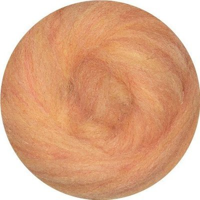 EcoSoft Wool Roving -- Peach