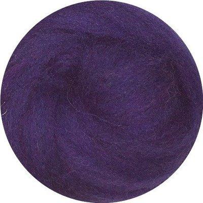 EcoSoft Wool Roving -- Plum