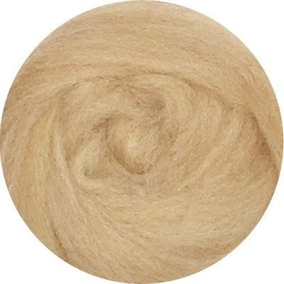 EcoSoft Wool Roving -- Sand