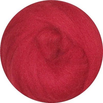 EcoSoft Wool Roving -- Strawberry