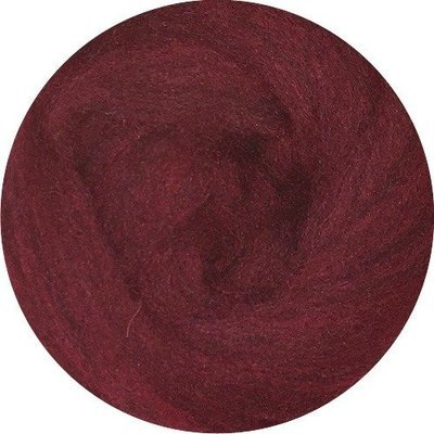 EcoSoft Wool Roving -- Wine