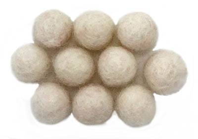 CLOSEOUT -- 10mm Felt Bead -- Natural White