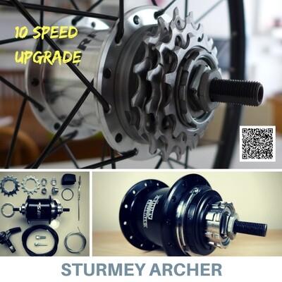 Brompton 2 to 3 Speed Sprocket Cog Thumb Shifter Kit MiniMODs x Sturmey Archer
