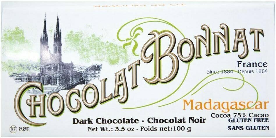 Bonnat 75% Single Origin Chocolate Bars
