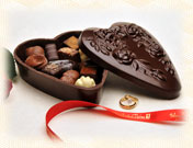 Chocolate Heart Box 602D