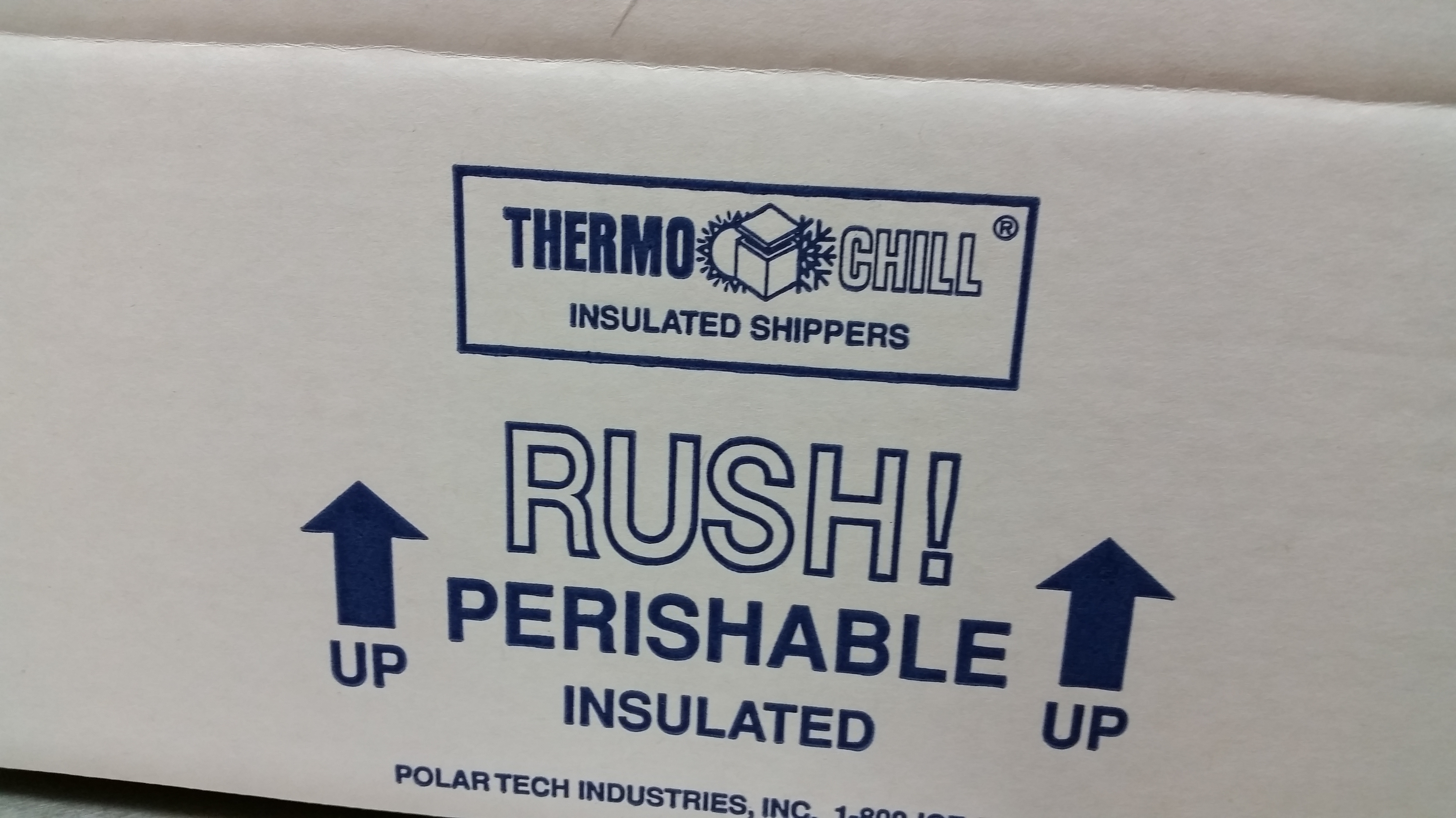 Insulated Container for 2 lbs. to 4 lbs. of Product Ordered ISO18