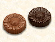 Sugar-Free Solid Chocolate Daisies