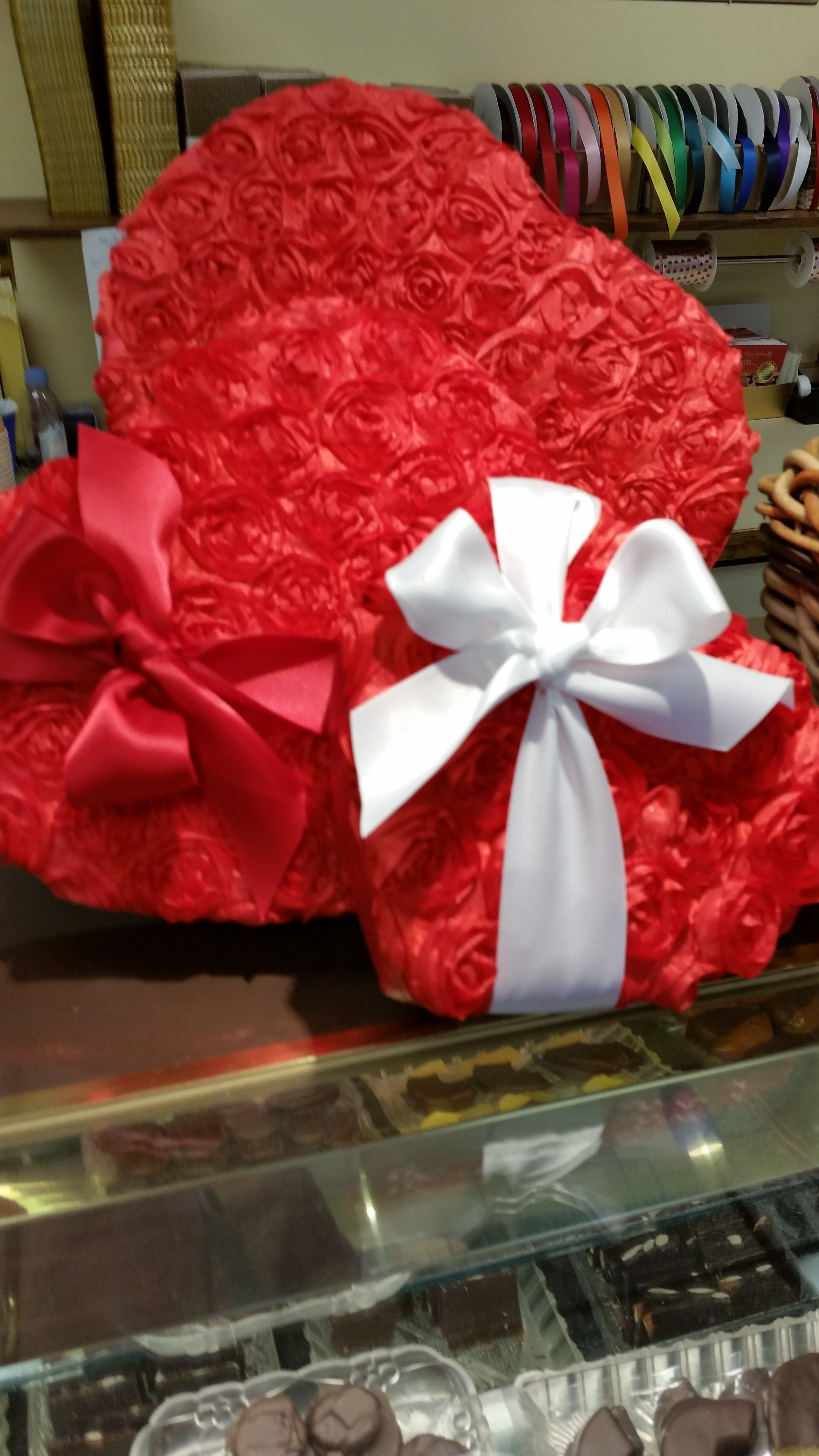 Satin Rose Valentine Candy Box - Large 613