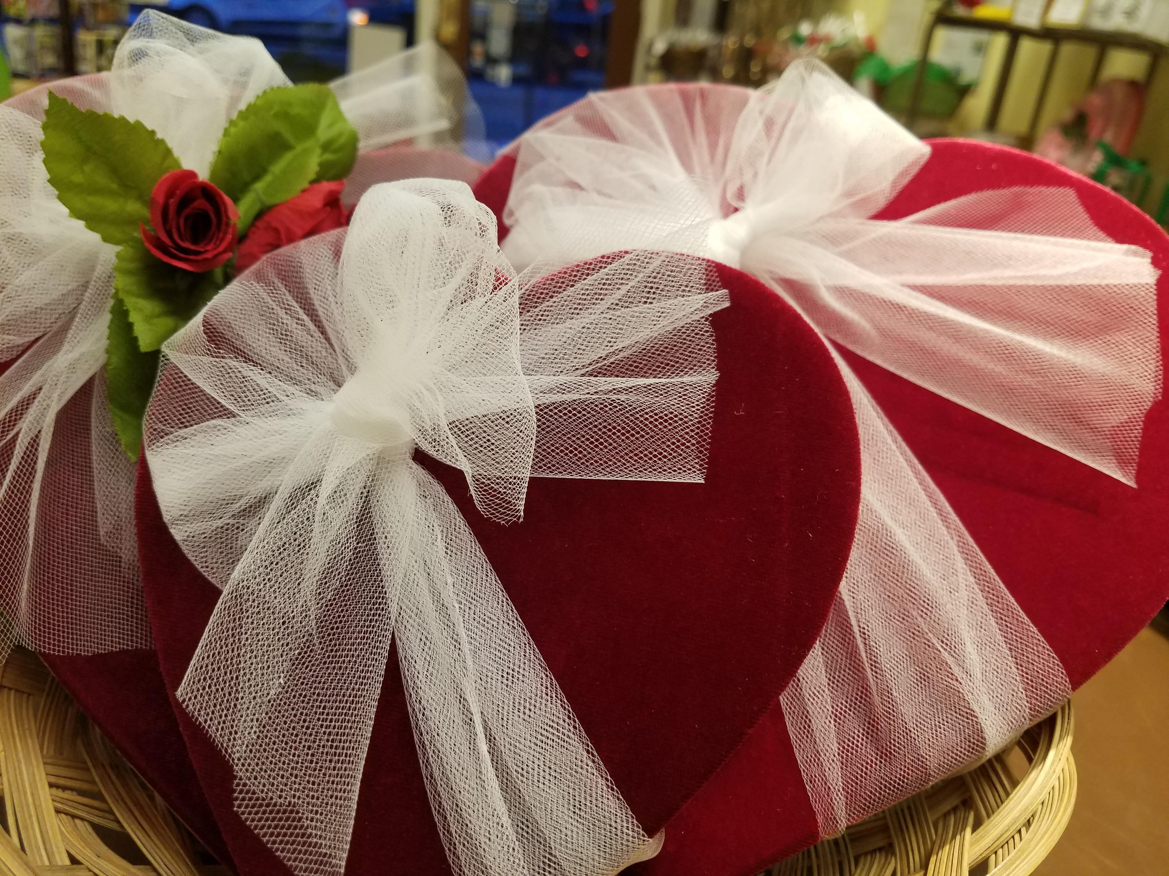 Velvet Valentine Heart Gift Box - Large