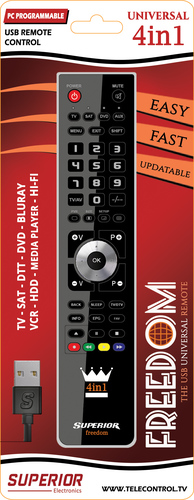 From 6,00€ Freedom Superior 4in1 Universal Remote Control USB cable 8054242080124-EN
