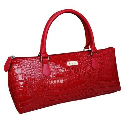 Handbag Insulated for Wine - Crocodile Red - FREE POSTAGE