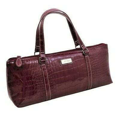 Handbag Insulated for Wine - Burgundy Lookalike crocodile pattern - FREE POSTAGE