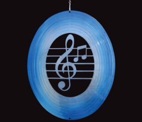 Classic Collection - Music Note - Blue and Silver  30cm