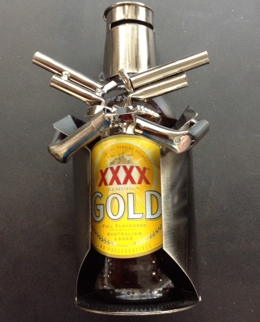 Nuts & Bolts - Ned Kelly Beer Can Holder