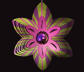 Contempo Collection - Purple and Lime Flower 30cm