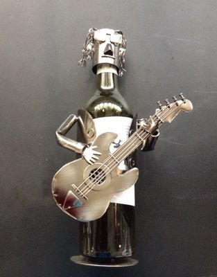 Electric Guitar Player Bottle Holder