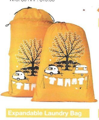 Laundry Bag - Yellow Expandable