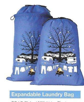 Laundry Bag - Blue Expandable