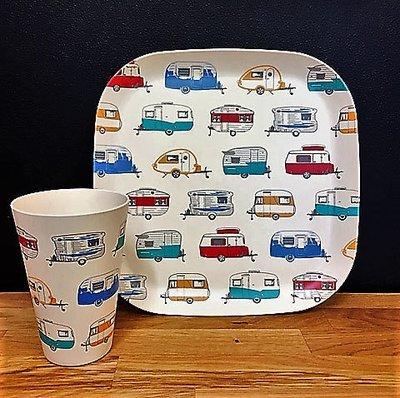 Bamboo Mugs & Plates - Coloured Vans