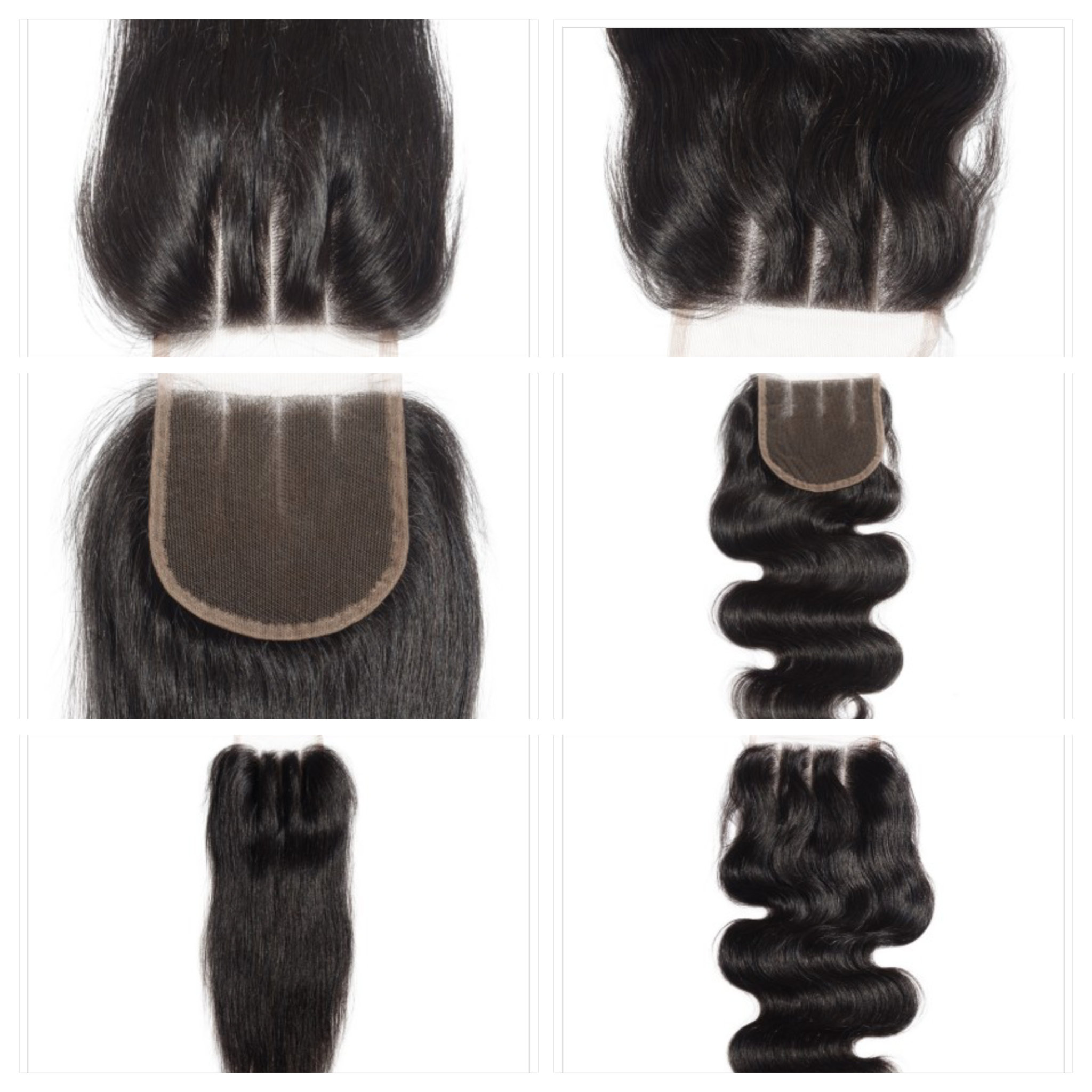3 Part Lace Closure straight or body wave (12 inches) 00001