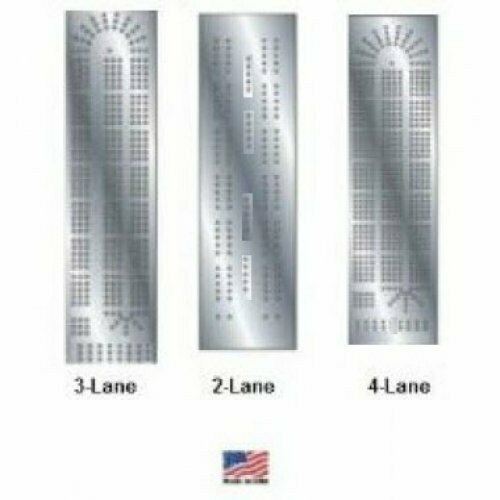 Cribbage Board Steel Template 3 Pack (3-lane, 2-lane, 4-lane) Made in the USA (Woodworking)