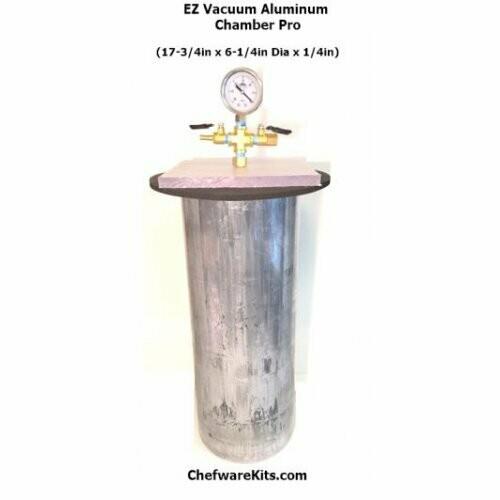 Professional Wood Stabilization Aluminum Vacuum Chamber Kit for Duck calls, Peppermills, Bowls, Boxes & Pen Blanks (Woodturning) Wood Stabilization Kit
