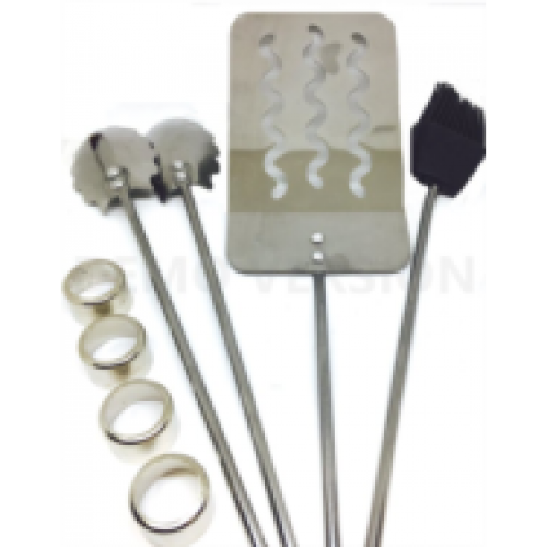 BBQ Stainless Grilling Set 3pc (Round Shanks) Woodturning Kit