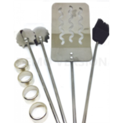 ​BBQ Stainless Grilling Set 3pc (Round Shanks) Woodturning Kit