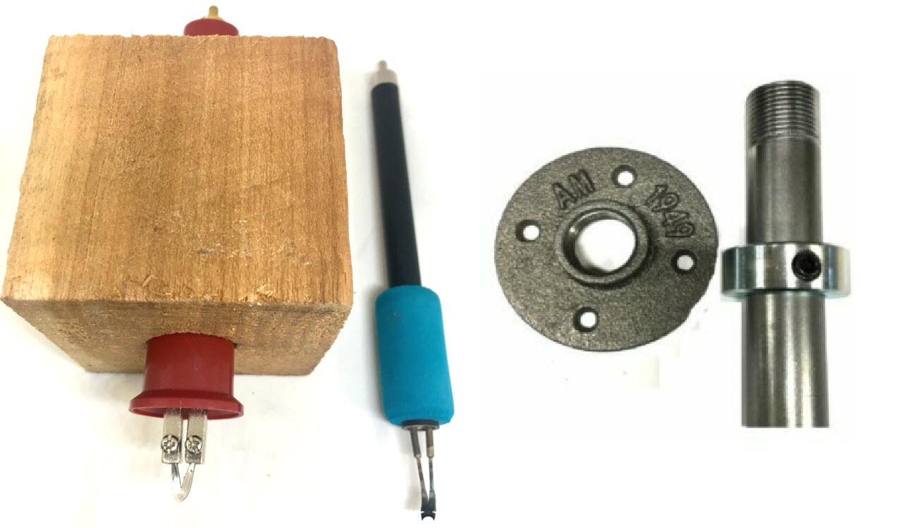 Basket Weave Illusion DIY 3pc Burning Pen Kit (Bead & Sled) Woodturning