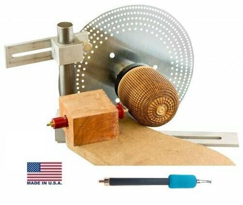 EZ Basket Weave Illusion Kit with Woodturning Lathe Index System