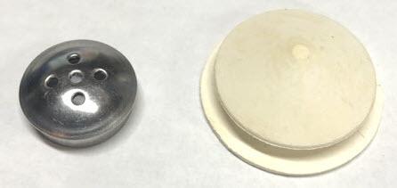 Salt Shaker Stainless Cap and Plug