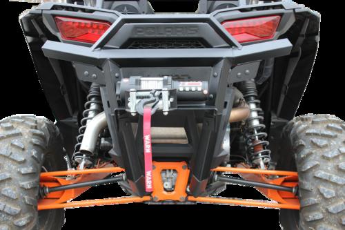 Polaris RZR 1000 Heavy Duty Back Bumper With Warn 3000lb Winch