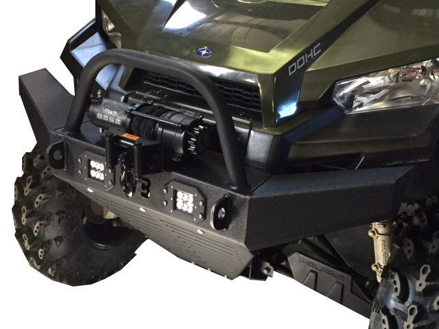 Polaris Ranger MidSize Front Bumper wflush mount LED lights