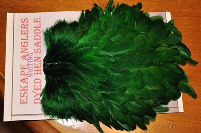 Whiting Hen Saddle Kelly Green