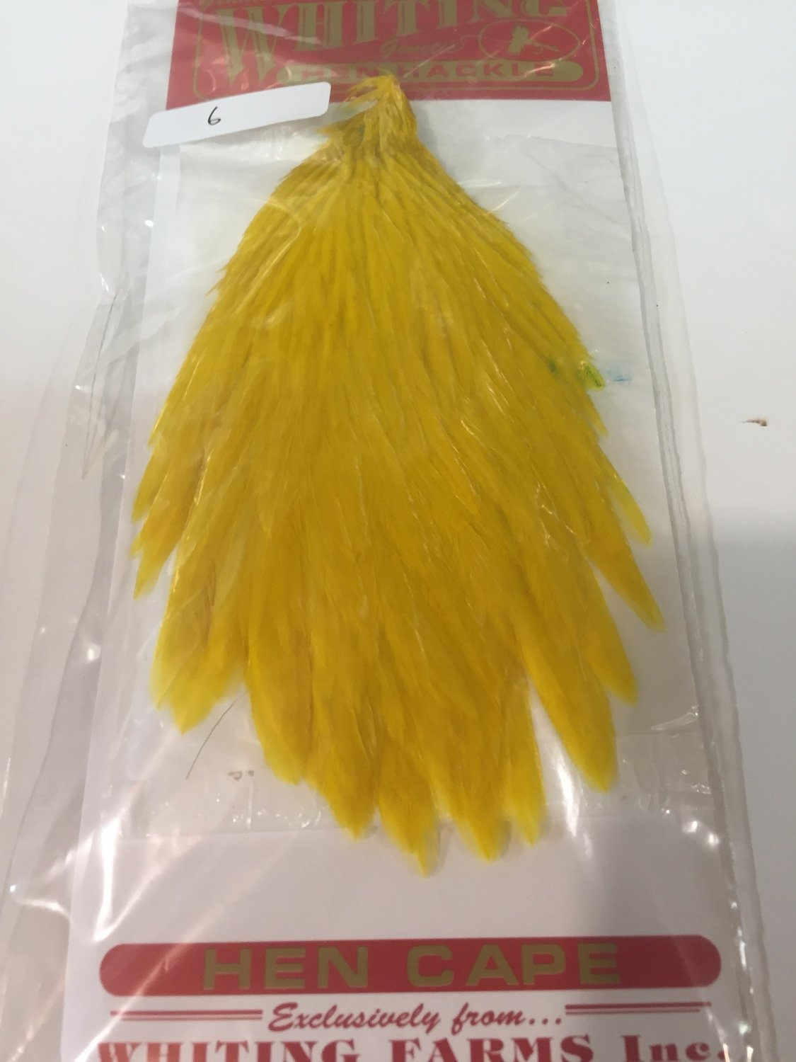Whiting Hen Neck Bright Yellow