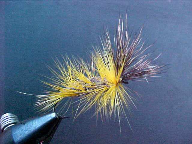 Brown Bomber Yellow Hackle Deer Wings