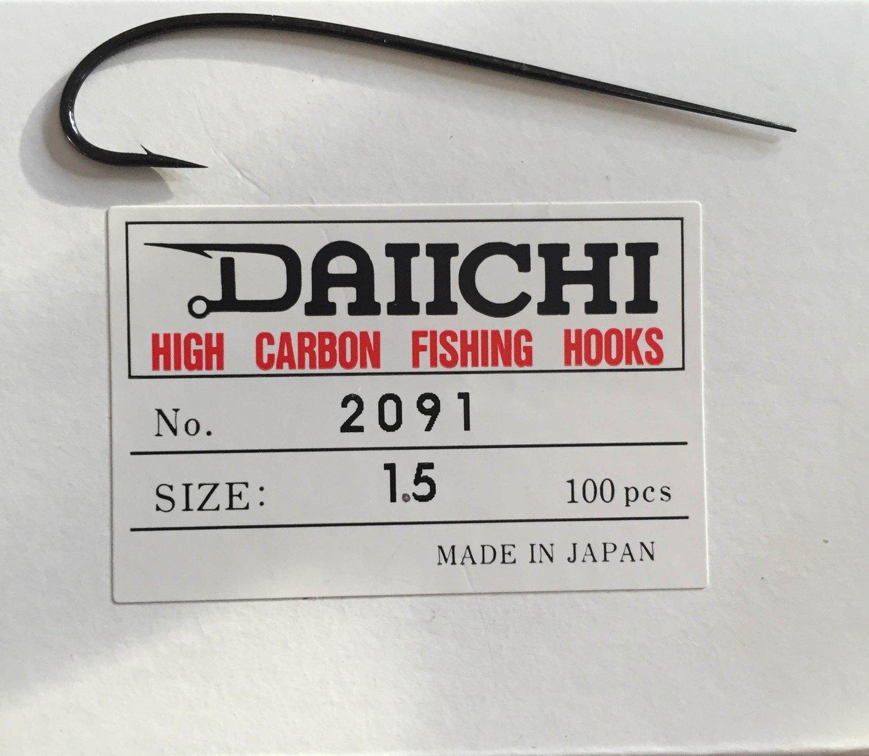 Daiichi 2091 Blind Eye Hook  Size 1.5 Pack of 10