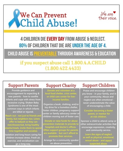 We Can Prevent Child Abuse Cards